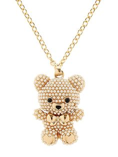 Chain necklace with pearl bear Heart Chain, Fresh Outfits, Buy Shoes, Best Brand, Fashion Online, Fashion Accessories, Gold Necklace, Man Shop, Touch