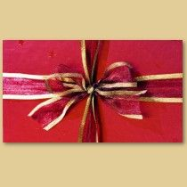 Holiday Gift Wrap and Bows business cards by bonfirechristmas