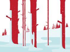 Al Boardman illustration snow winter ski Winter Illustration, Digital Illustration, Gif Animé, Animated Gif, Motion Design, Design Thinking, Adobe Illustrator, Holiday Images, Create Animation