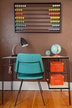 abacus wall art in Merisa's house tour | AT