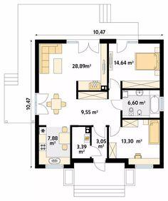 House Layout Plans, Small House Plans, House Layouts, Bungalows, Building Plans, Building A House, Vintage House Plans, Garage Apartments, Farmhouse Plans