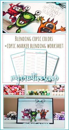 Blending Copic Marker Colors - Here's a few Color Combos that blend great together, creating a 2 toned look to an image. Blending Different Copic Colors!