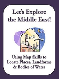"""This assignment is titled """"Let's Explore the Middle East! Use a Map to Find Countries, Cities, Landforms, and Bodies of Water."""" This assignment includes 20 questions that require students to analyze a map of the Middle East for national borders, capital cities, landforms, and bodies of water."""