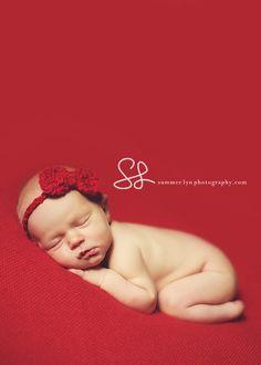 Newborn Photography idea for Valentines/Christmas
