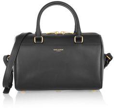 Saint Laurent - Classic Duffle Mini Leather Bag - Black
