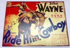 John Wayne And Duke His Devil Horse Ride Him Cowboy Metal Sign Wall Hanging