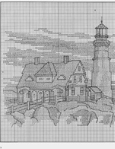 White lighthouse........Landfall 3/6 (this lighthouse chart 2 pages)