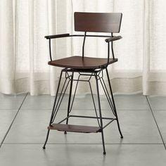 стул высокий, крутится, со спинкой