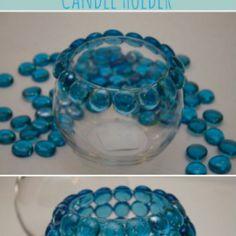 Glazen kaarsen houder