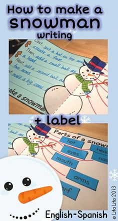 Snowman writing craftivity $