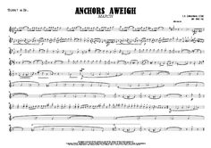 Trumpet in B^b 1 part from ANCHORS AWEIGH