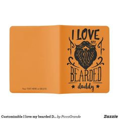Customizable I love my bearded Daddy Extra Large Moleskine Notebook Moleskine Notebook, Pocket Notebook, Online Gifts, Travel Accessories, Daddy, Fathers Day Gifts, Gifts For Him, Hand Sewing, Stationery