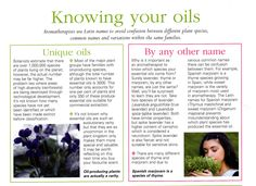 Knowing your oils