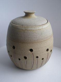 garlic jar pottery - Google Search