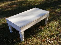 Shabby White Coffee Table with Beautiful Hand by TheWoodworkMan, $299.00