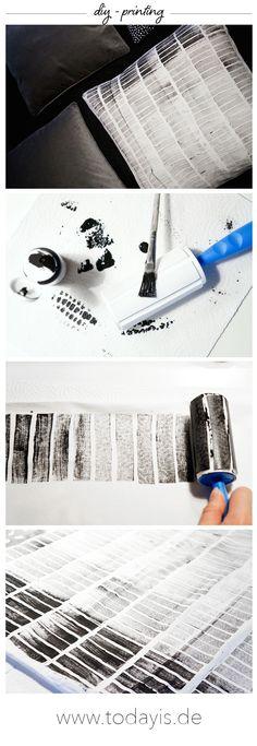 Diy printing / Ikea Hack / Kissen bedrucken / Stempeldruck / www.todayis.de