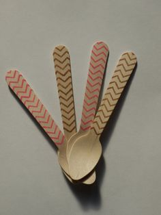 Chevron Ice Cream Spoons from Sucre and Spice