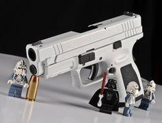 Stormtrooper Springfield Glock 9mm, 2nd Amendment, Firearms, Hand Guns, Badass, Weapons, Weapons Guns, Pistols, Guns