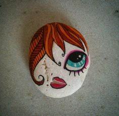 Painted stone