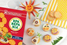 Κρακεράκια «Φατσούλες» για παιδικό πάρτι Crackers, Cookies, Party, Desserts, Recipes, Food, Decor, Biscuits, Decoration