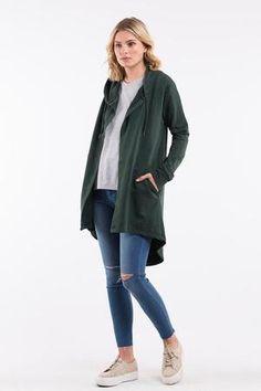 Wardrobe Basics, Wardrobe Staples, Everyday Fashion, Stylish Outfits, Hoods, Cardigans, Coat, Casual, How To Wear