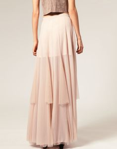 ASOS Mesh and Chiffon Maxi Skirt - I adore maxi skirts, they are so classy and modest!