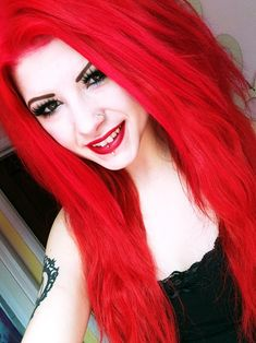 Is There A Brand Of Bright Red Hair Dye That - Fashion . - - Is There a Brand of Bright Dye That - Fashion bright red hair - Red Hair Red Hairstyle Models 2019 Top Best Red Hairsty. Bright Red Hair Dye, Neon Hair Color, Dyed Red Hair, Dye My Hair, Red Color, Red Hair And Blue Hair, Colorful Hair, Vibrant Red Hair, Hair Colours