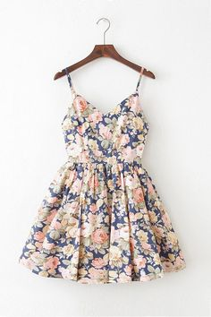 May Peony Strap Cute Retro Sundress