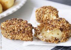 Hazelnut Fried Brie - Turn your kitchen into a fancy French restaurant by serving these creamy bite-sized Brie nuggets.