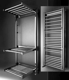 Quinn Maiori Towel radiato rpractical and space saving! Modern Bathroom, Small Bathroom, Bathroom Storage, Warehouse Home, Towel Radiator, Flat Interior, Towel Warmer, Heated Towel Rail, Bathroom Inspiration