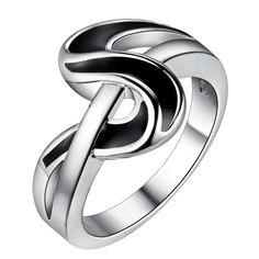 Преувеличены темная полоса горячей посеребренные кольца, Мода кольцо ювелирных изделий для женщин, / Bnofmvlr QNDBIHKRкупить в магазине QIAOLING SUN's storeнаAliExpress