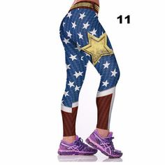 Fashion Active Women Sporting Leggings Sexy Fitness Pants Floral Gothic Wide Workout Clothing Waisted Sportswear