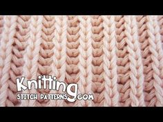 Knitting Spike Trellis Stitch - YouTube