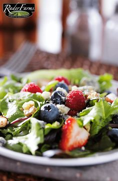 Sweeten things up a bit by adding Rader Farms strawberries, blueberries or raspberries to your salad!