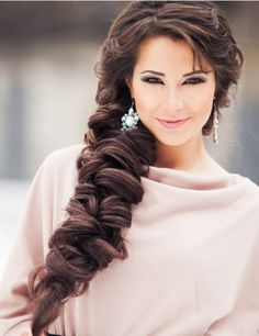 Long and thick hair looks great in this braid. I really love it but it looks super hard. Maybe it's just my imagination. Beautiful Braids, Beautiful Long Hair, Gorgeous Hair, Pretty Hairstyles, Braided Hairstyles, Wedding Hairstyles, Hairstyle Braid, Love Hair, Great Hair