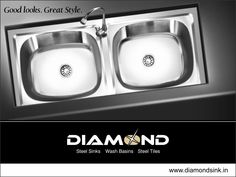 Get the power of two benefits in one sink. Explore the complete range @ www.diamondsink.in #SteelSink #SteelKitchenSink #StylishSinks #DiamondSink #KitchenSink #Kitchen #Sink