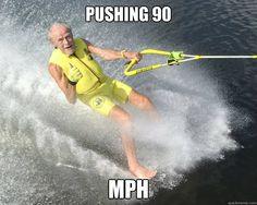 pushing 90 mph caption 3 goes here - Extreme Senior Citizen