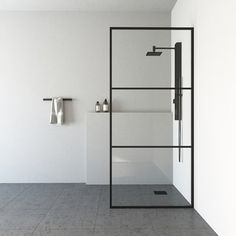 VIGO Ventana H x to W Framed Fixed Matte Black Shower Door (Clear Glass) at Lowe's. The pioneer of new bathroom design, VIGO introduces the Ventana Fixed Frame Shower Screen. Offering a fresh new look but the same great construction as New Bathroom Designs, Walk In Shower Designs, Bathroom Ideas, Shower Ideas, Bathroom Renovations, Bathroom Interior, Bathroom Layout, Bathroom Organization, Bathroom Inspiration