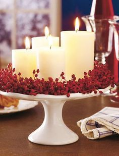 25 Red and White Christmas Decoration Ideas Need some cool ideas and inspiration to decorate your home this holiday Season? Check out these 25 Red and White Christmas Decoration Ideas and have fun! Noel Christmas, Winter Christmas, Outdoor Christmas, Christmas Candles, Cheap Christmas, Simple Christmas, Advent Candles, Christmas Christmas, Magical Christmas