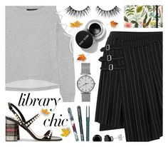 """""""Library Chic"""" by ana3blue ❤ liked on Polyvore featuring McQ by Alexander McQueen, W118 by Walter Baker, Miu Miu, Vera Bradley and Berylune"""