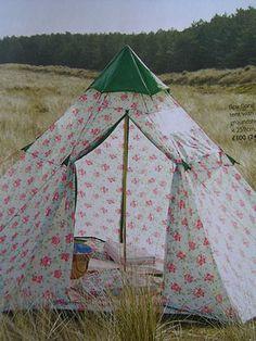 ~ ok it's not a camper but it is a pretty cute tent ~
