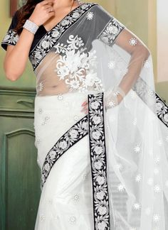 Bridal Fashion Week – White Wedding Saree | fullcircleeventi.com