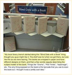 Cool idee. Blind date met een boek.