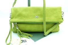 Borsa Pochette borsetta Tracolla in pelle JackyCeline Art B210 colore Kaki