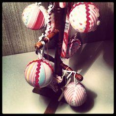 Bolas de navidad de tela