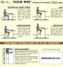 what bar stool heights to use for various situations furniture