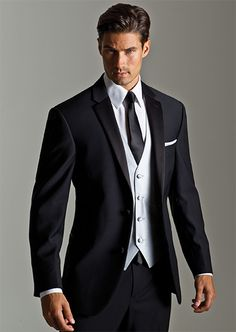 Mens Black Jean Yves Tuxedo Jacket /& Pant Set Prom Wedding Mason Tux Discount