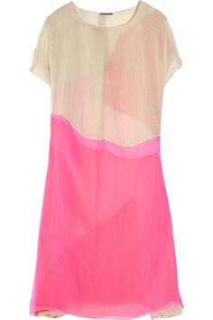 Bottega Veneta Chifon Dress                                  Layered silk-chiffon dress