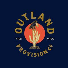 T-shirt front chest of the Vulture and Cactus Type and illustration for @outlandprovision