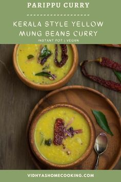 Kerala Parippu Curry - A delicious and a simple dal prepared in the instant pot with small yellow lentils or the moong dal and with the fresh ground coconut-cumin paste. #dal #lentilscurry #instantpot #parippucurry #instantpotparippucurry